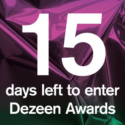 15 days left to enter Dezeen Awards