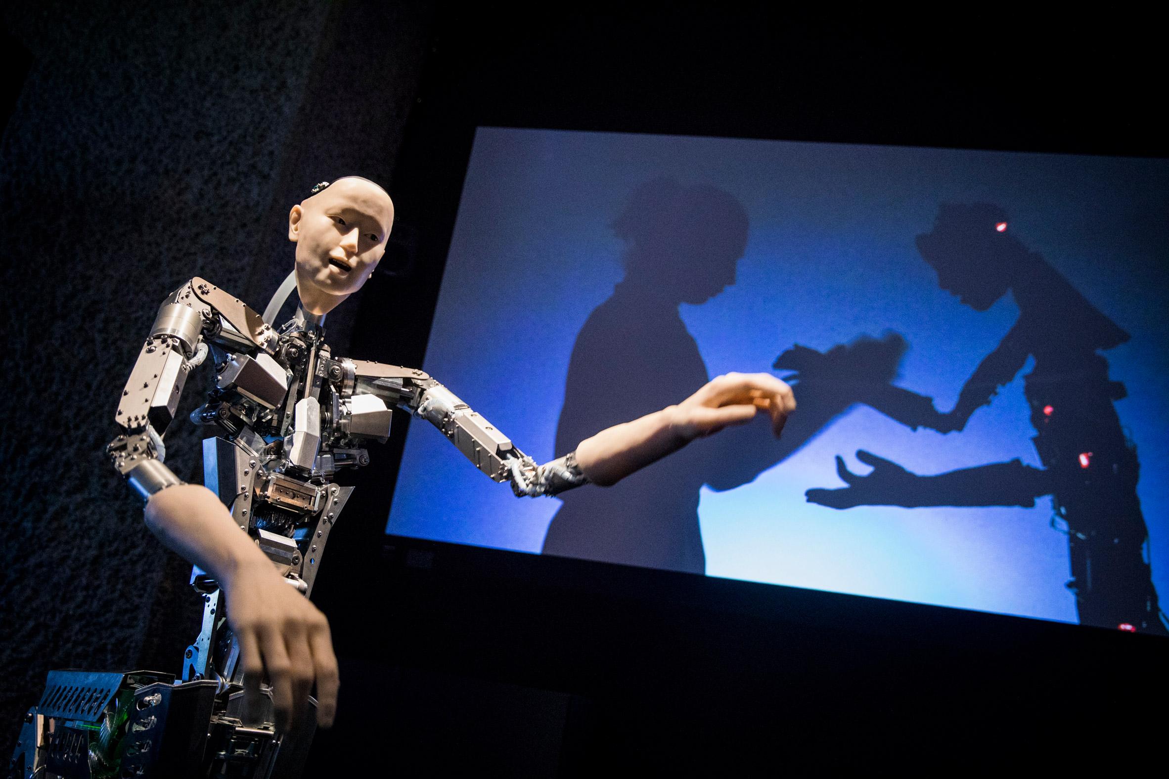 Barbican AI More than Human exhibition
