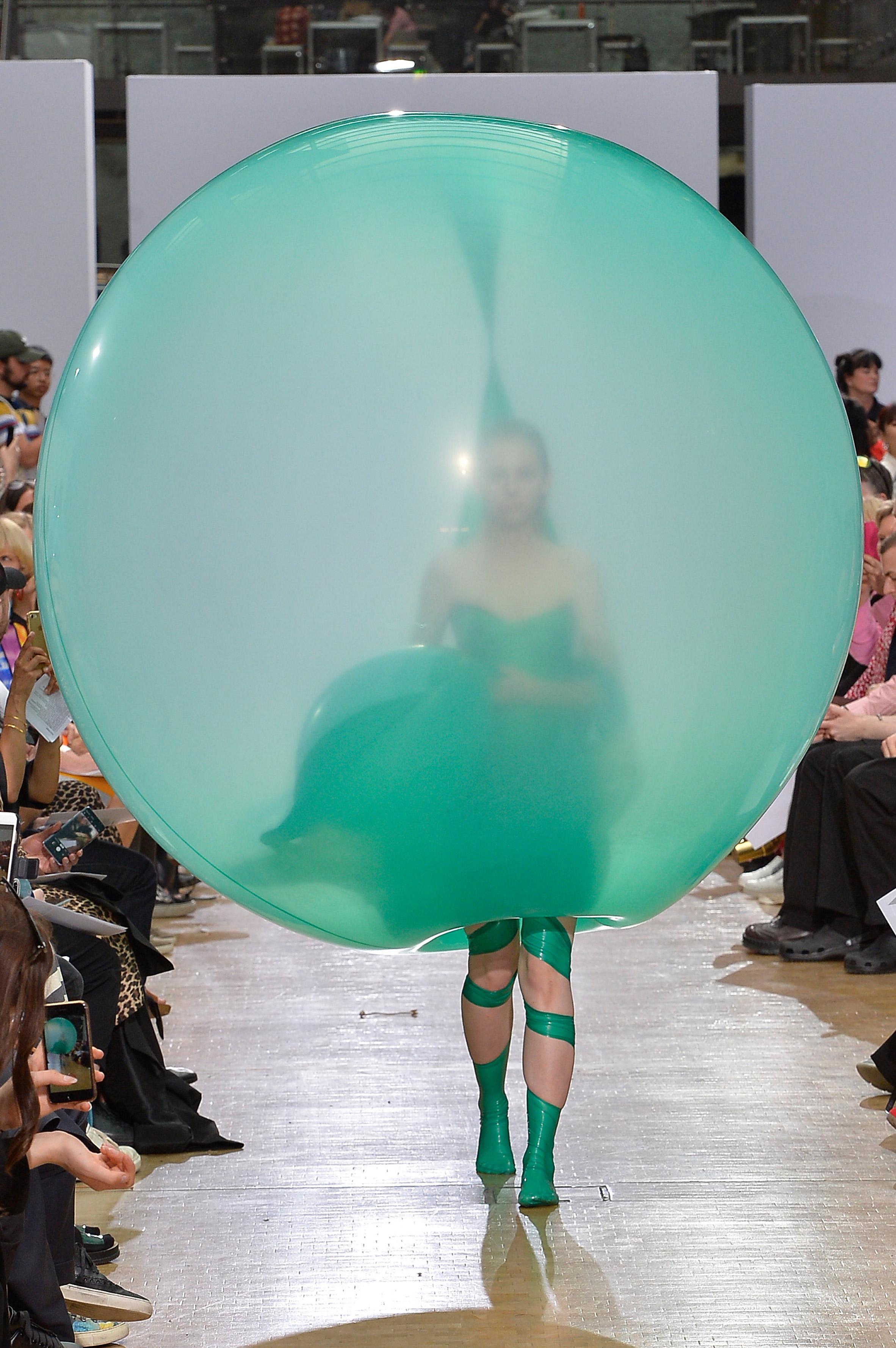 Fredrik Tjærandsen's rubber bubble clothing