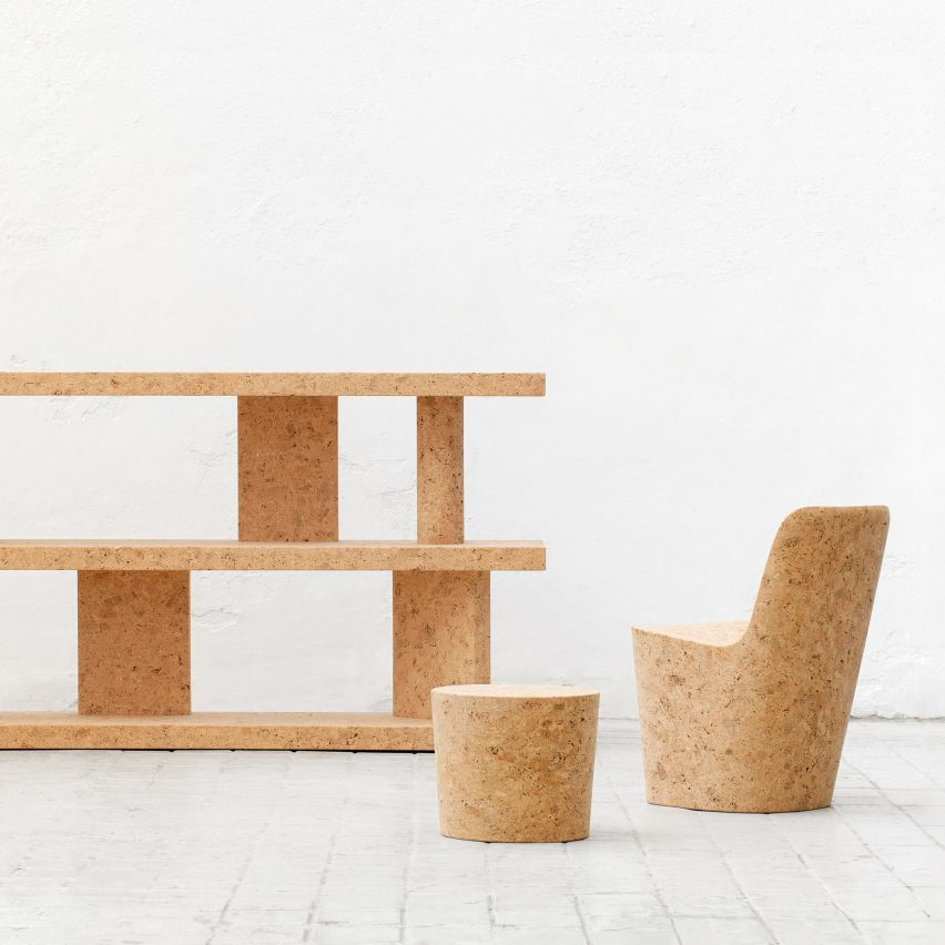 Jasper Morrison shows his first complete series of cork furniture in New York