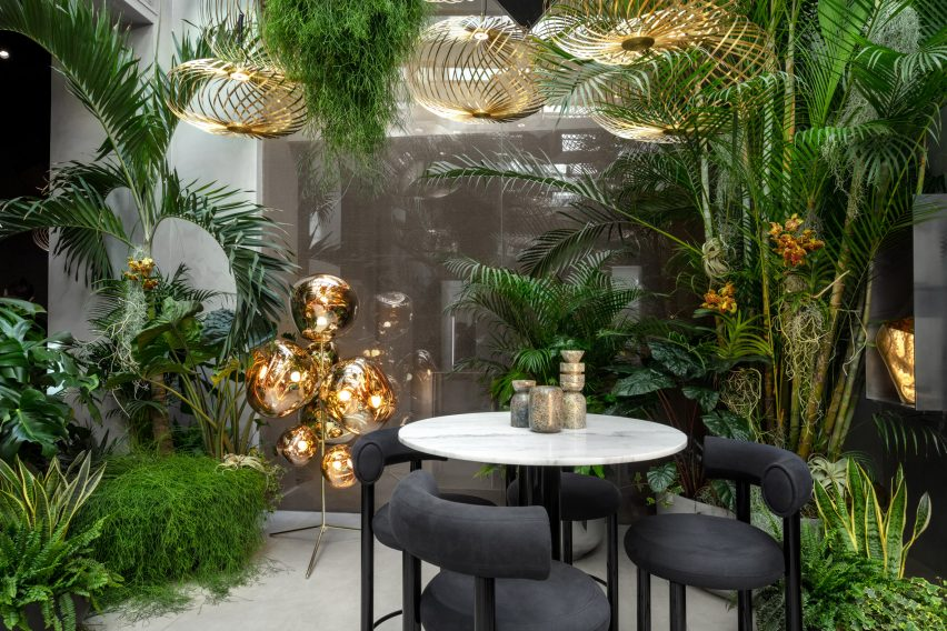 The Manzoni Tom Dixon restaurant interior Milan