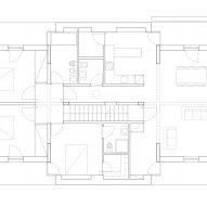 Floor plan of TS House by Pedro Miguel Santos in Penafiel Portugal