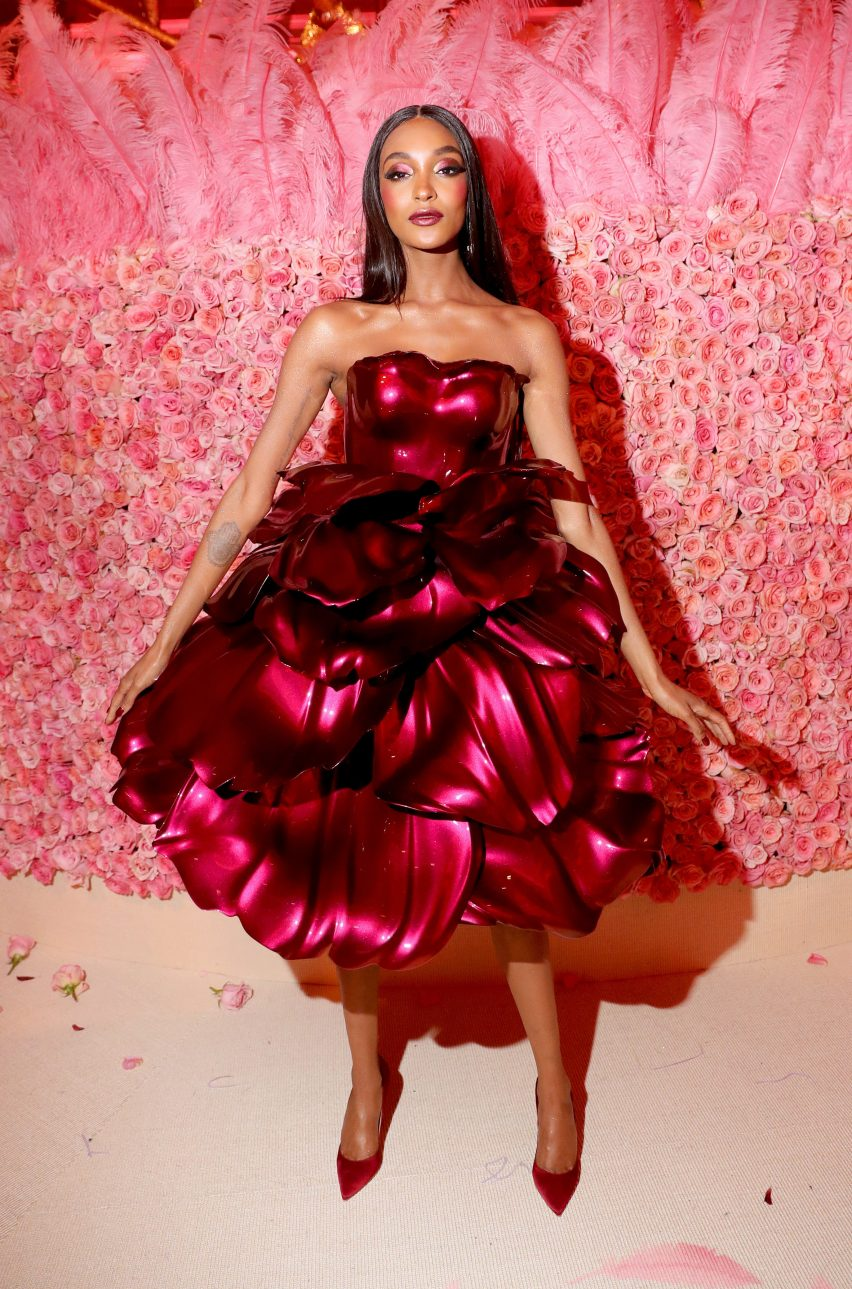 Zac Posen designs 3D-printed rose petal dress for Met Gala