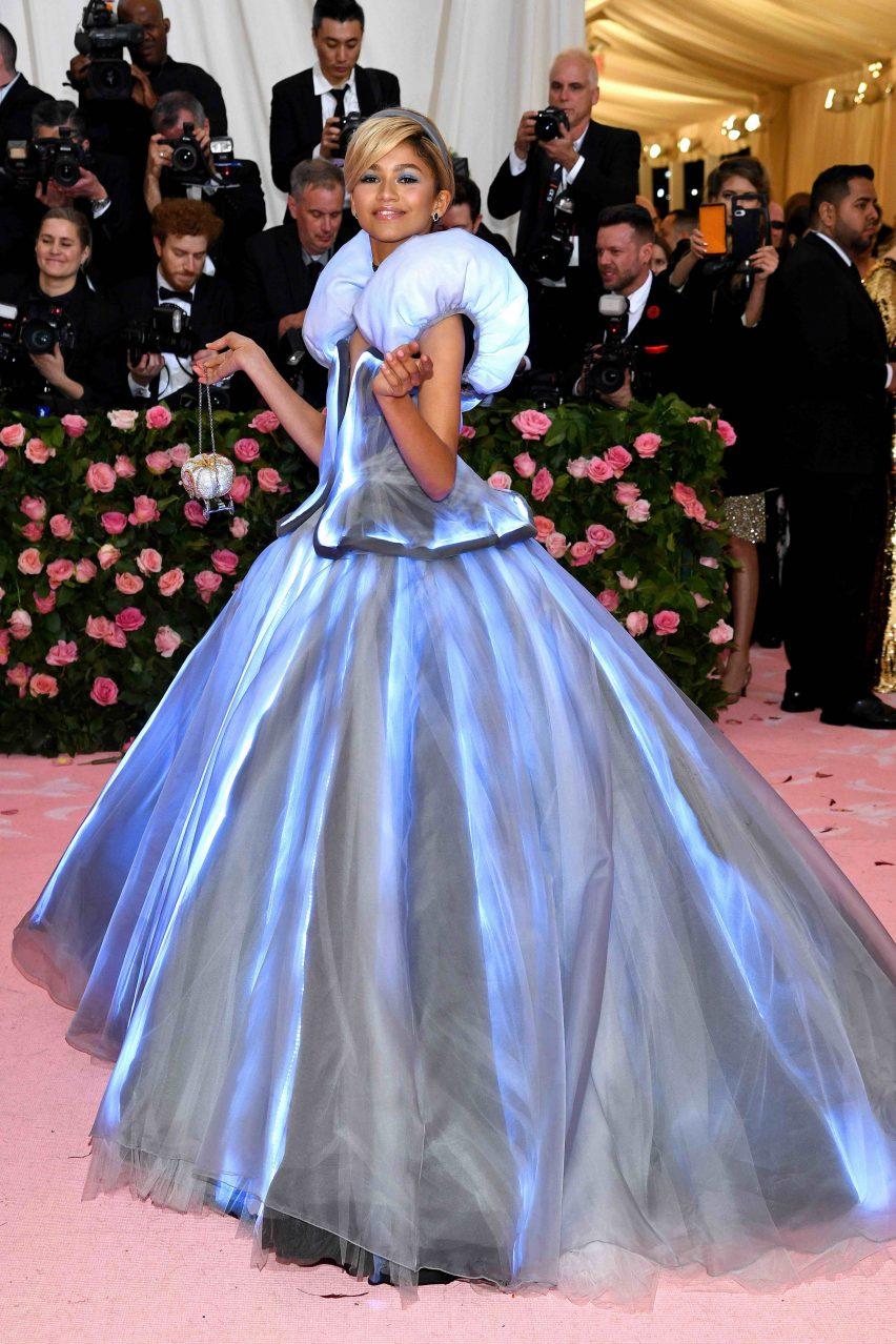518fec9a Zendaya wears colour-changing Cinderella dress to Met Gala in New York