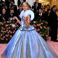 Zendaya wears colour-changing Cinderella dress to the Met Gala in New York