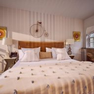 A Room at the Beach boutique hotel by Lucy Swift Weber and Charles Lemonides in Bridgehampton, New York