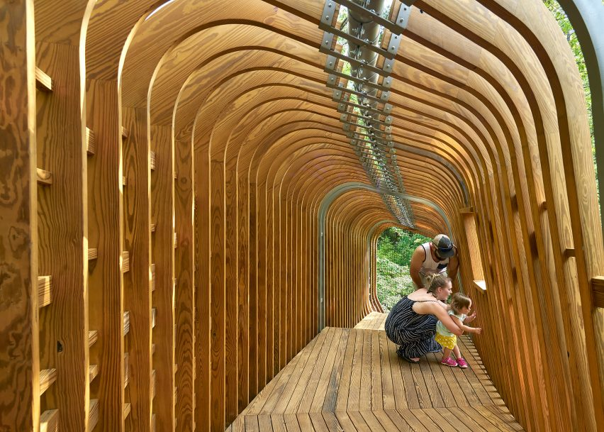 The Evans Tree House at Garvan Woodland Gardens, Hot Springs, Arkansas by Modus Studio and the University of Arkansas