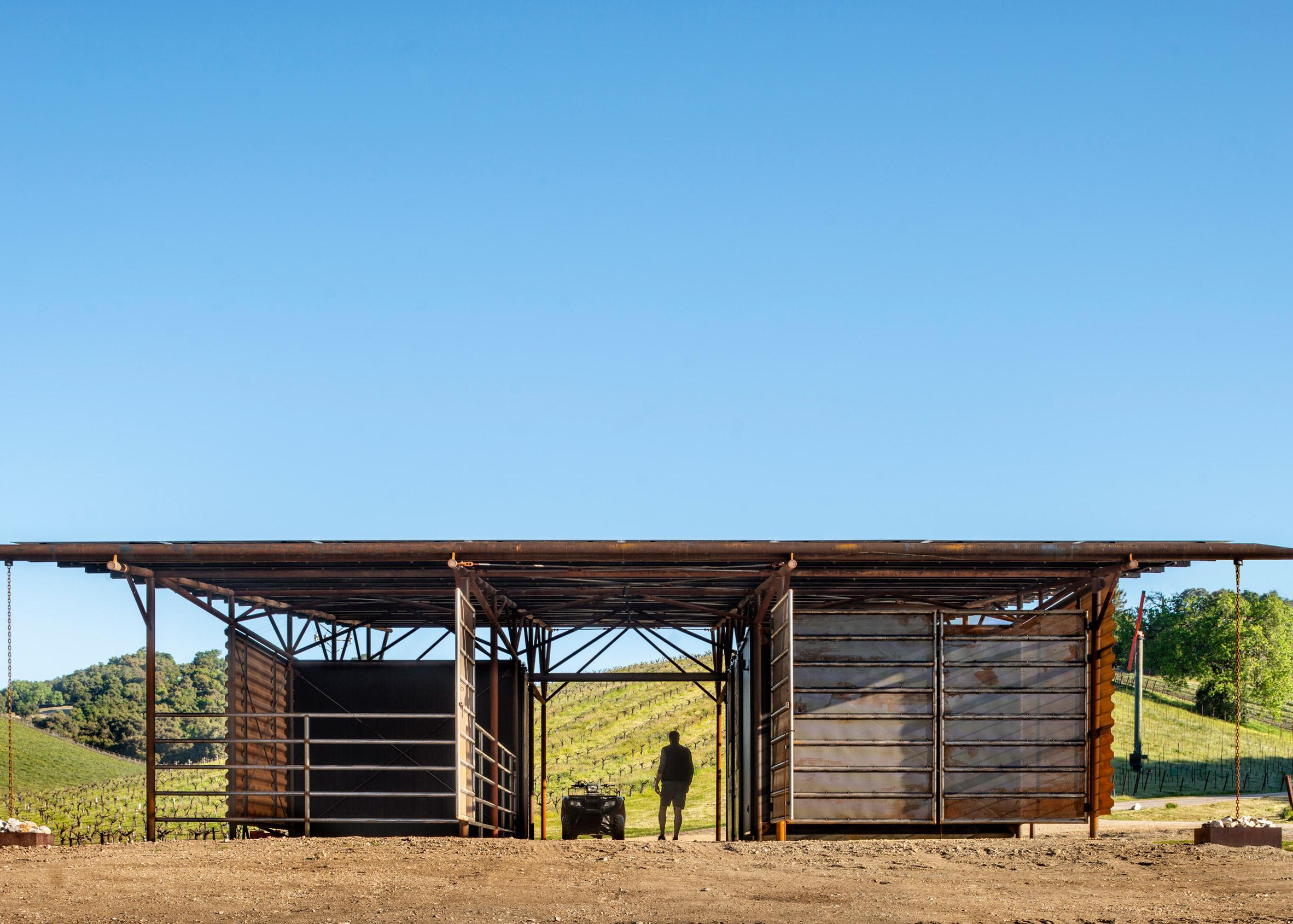 Saxum Vineyard Equipment Barn, Paso Robles, California by Clayton & Little Architects