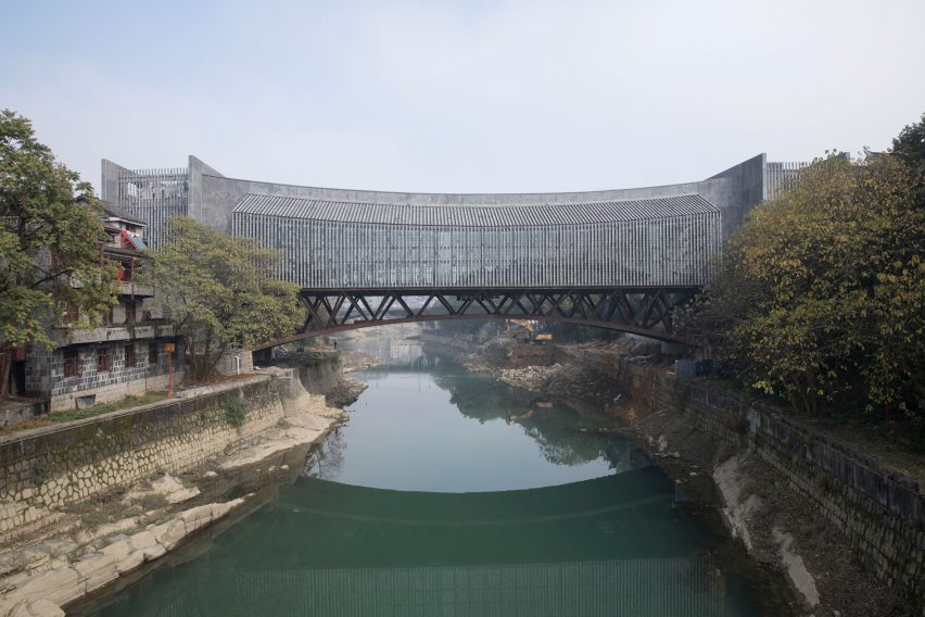 Atelier FCJZ's Jishou Art Museum doubles as a pedestrian bridge