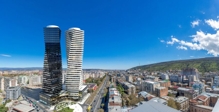Axis Towers in Tbilisi, Georgia