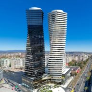 Tbilisi's tallest towers wrapped in stone and glass