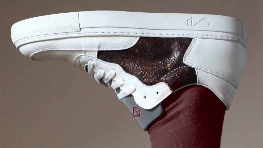 Shahar Livne makes bio-leather shoes from slaughterhouse waste