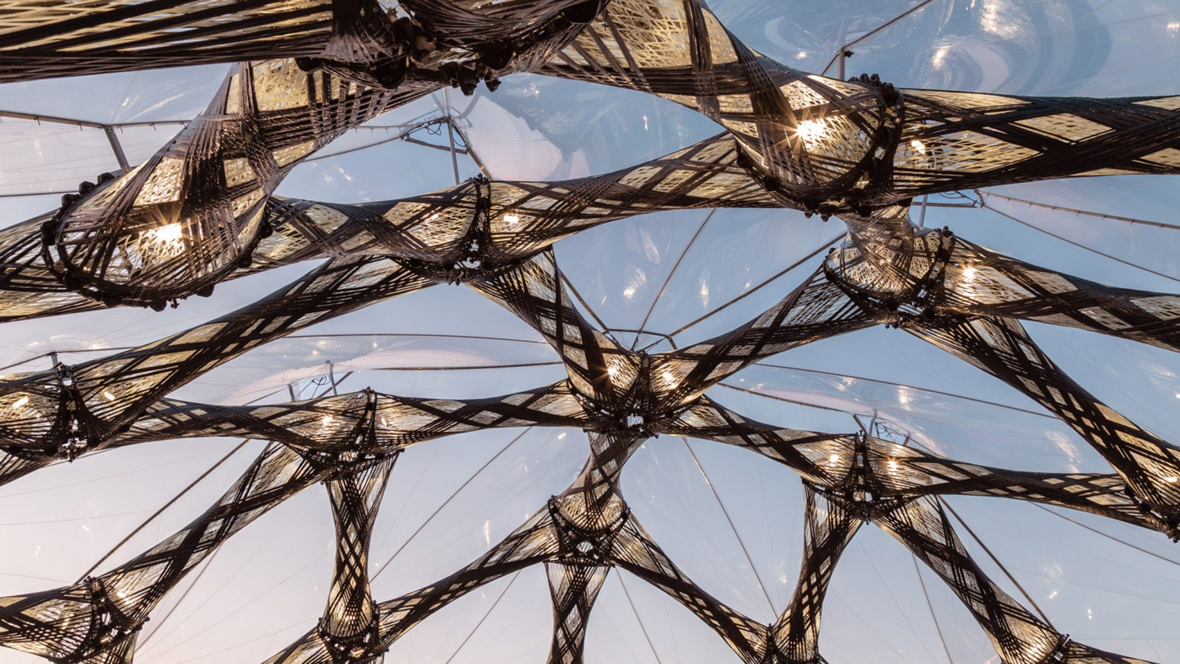 University of Stuttgart creates biomimetic pavilions for the Bundesgartenschau horticultural show in Germany