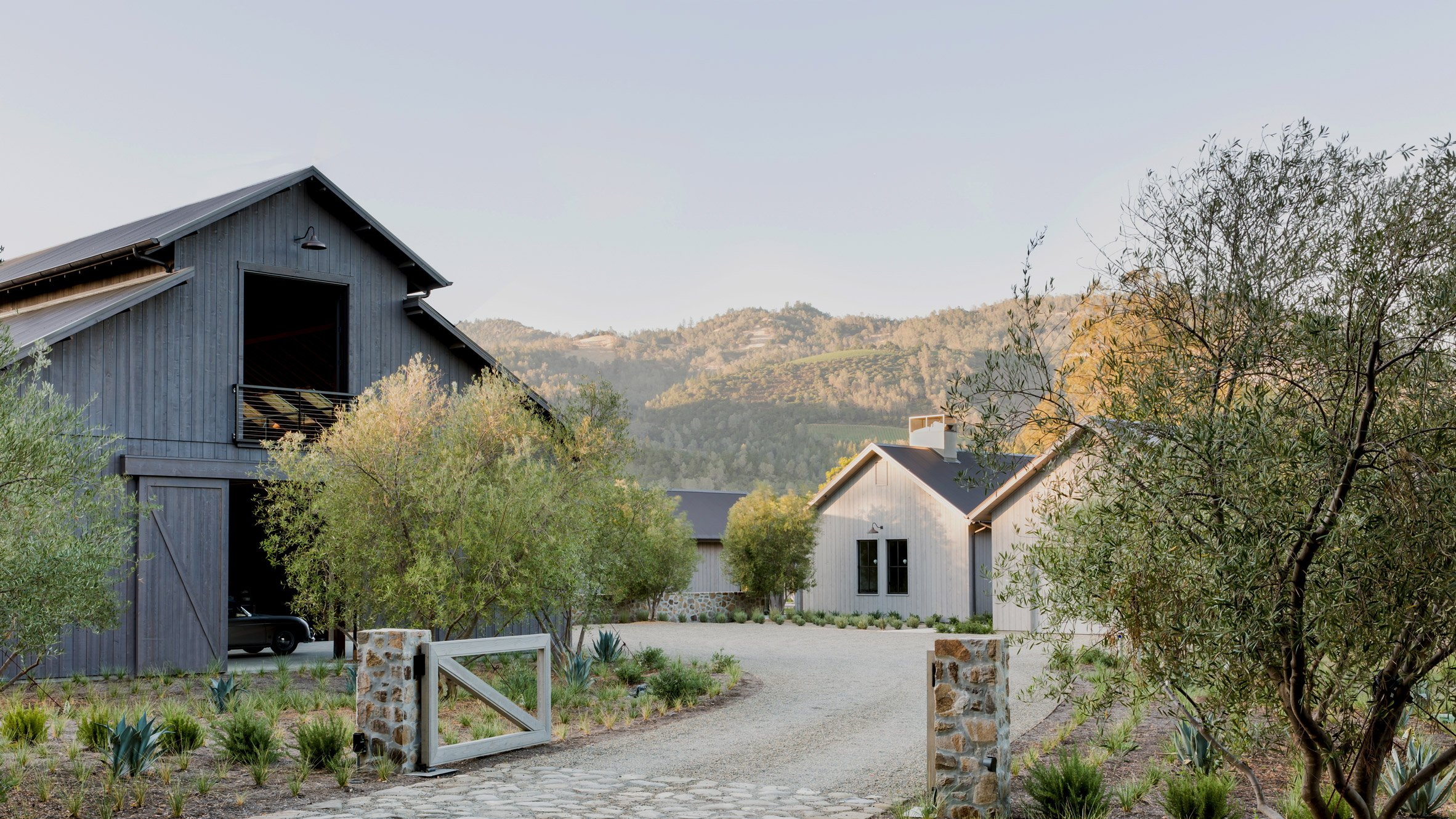 Calistoga Residence in Napa Valley draws on local barns and ... on woodland house design, nipa house design, seaside house design, sea ranch house design, joshua tree house design,