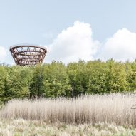 Camp Adventure tower in Denmark by EFFEKT