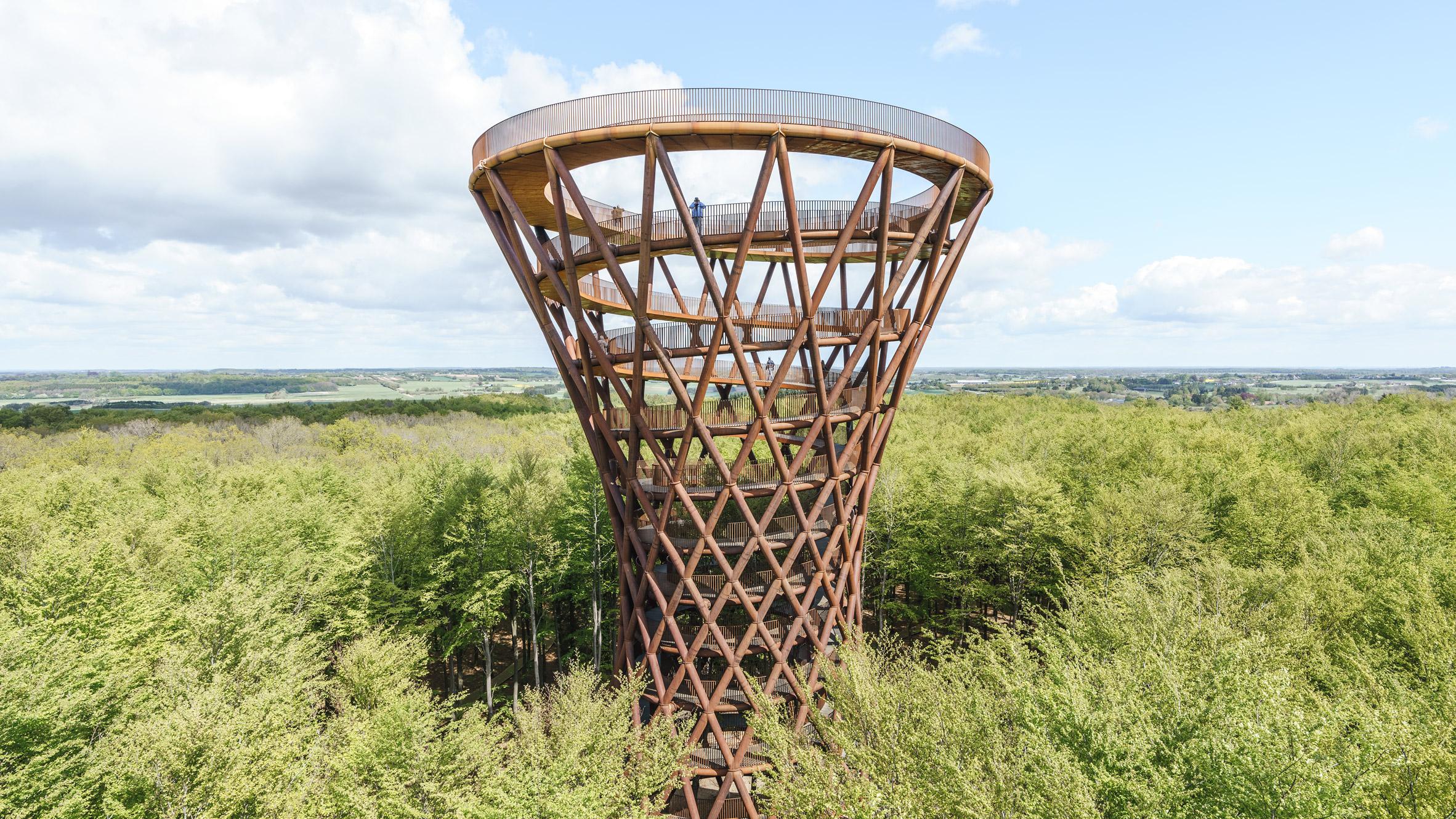 Camp Adventure tower in Denmark by EFFEKT