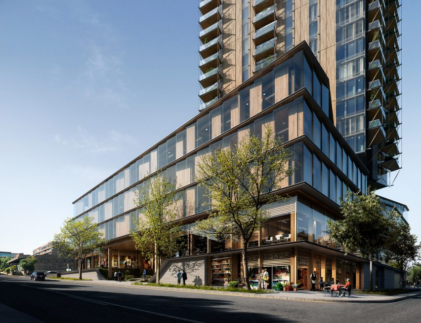Canada Earth Tower by Delta Land Development and Perkins+Will in Vancouver, British Columbia, Canada