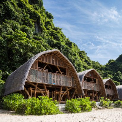 Vo Trong Nghia Architects builds Castaway Island Resort from bamboo