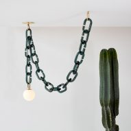 Trueing's Cerine lighting hangs from chunky coloured glass chains