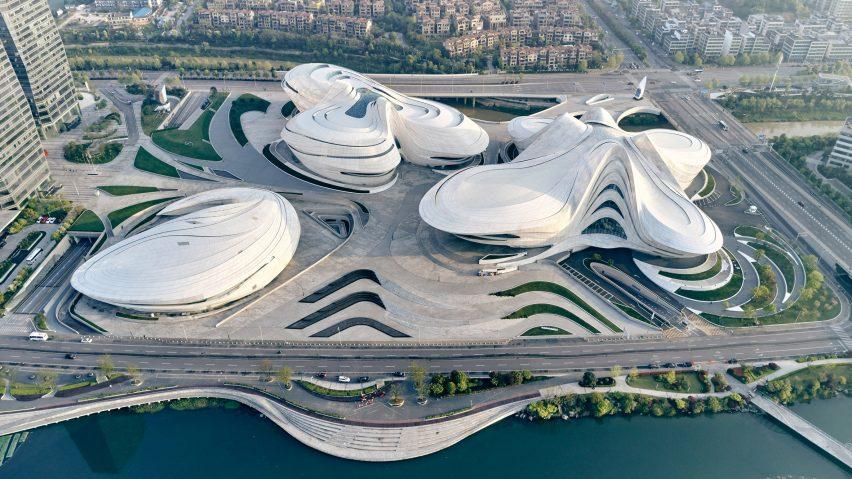 Changsha Meixihu International Culture and Art Centre by Zaha Hadid Architects