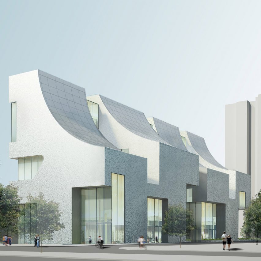 Steven Holl Architects designs Beijing office block with curved glass roofs