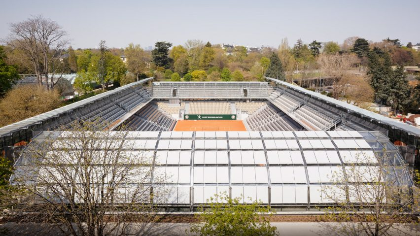 Simonne Mathieu at Roland Garos, the home of the French Open, by Marc Mimram Architecture & Associés