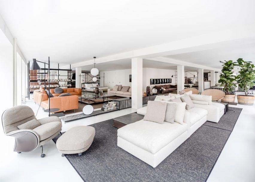 DePadova London showroom, Chelsea, designed by Piero Lissoni