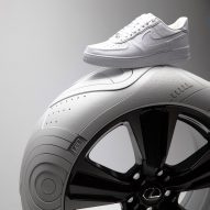 Tej Chauhan designs car tyre based on Nike's Air Force 1 sneaker