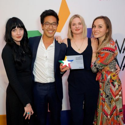 "Dezeen Awards team ""made their mark"" with the first ever winners' ceremony, taking home the title of Best New Awards Event at the Awards Awards 2019"