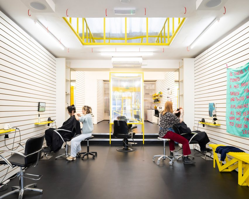 DKUK hair salon by Sam Jacob Studio