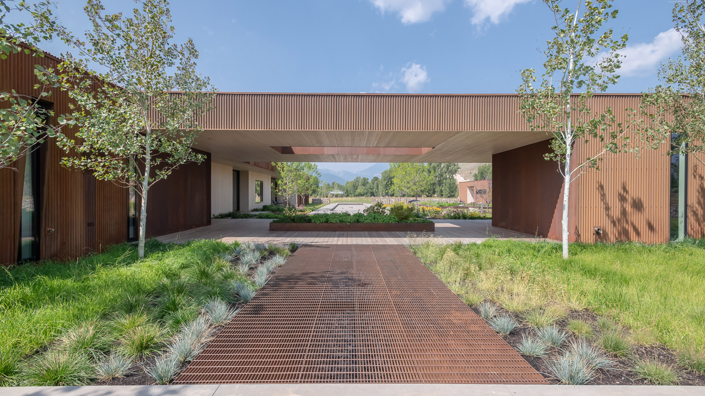 Carney Logan Burke Wraps Dogtrot Residence In Weathering Steel To Blend With Wyoming Terrain