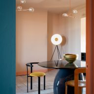 Coral and blue surfaces merge in seaside spa Haeckels House