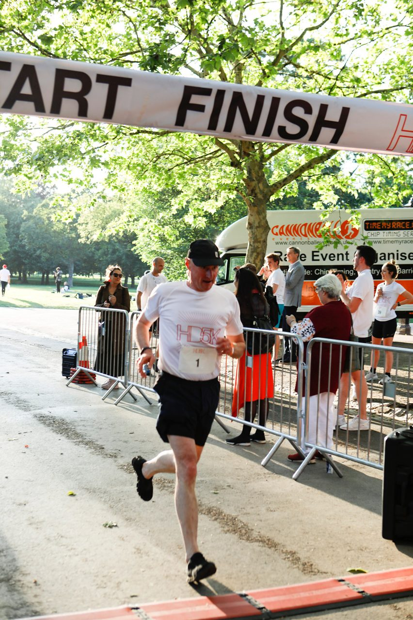Sumon Allford at HD5K charity race by Hayes Davidson for the Motor Neurone Disease Association
