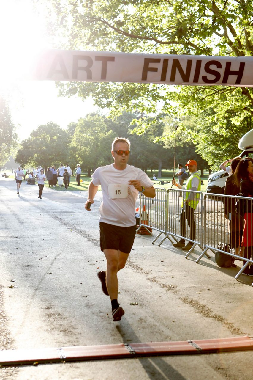 Jason Bruges at HD5K charity race by Hayes Davidson for the Motor Neurone Disease Association