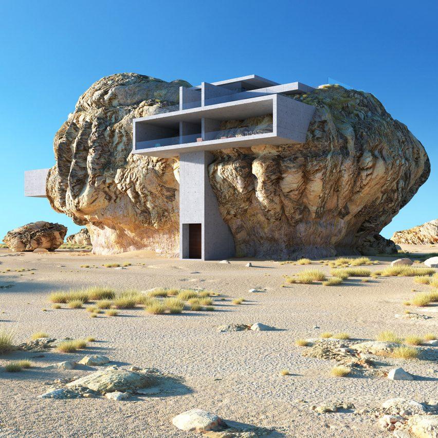 House Inside a Rock by Amey Kandalgaokar