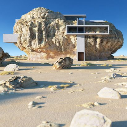 House Inside a Rock by Amey Kandalgaokar