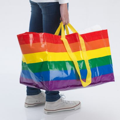Kvanting rainbow bag by IKEA for LGBT Pride Month