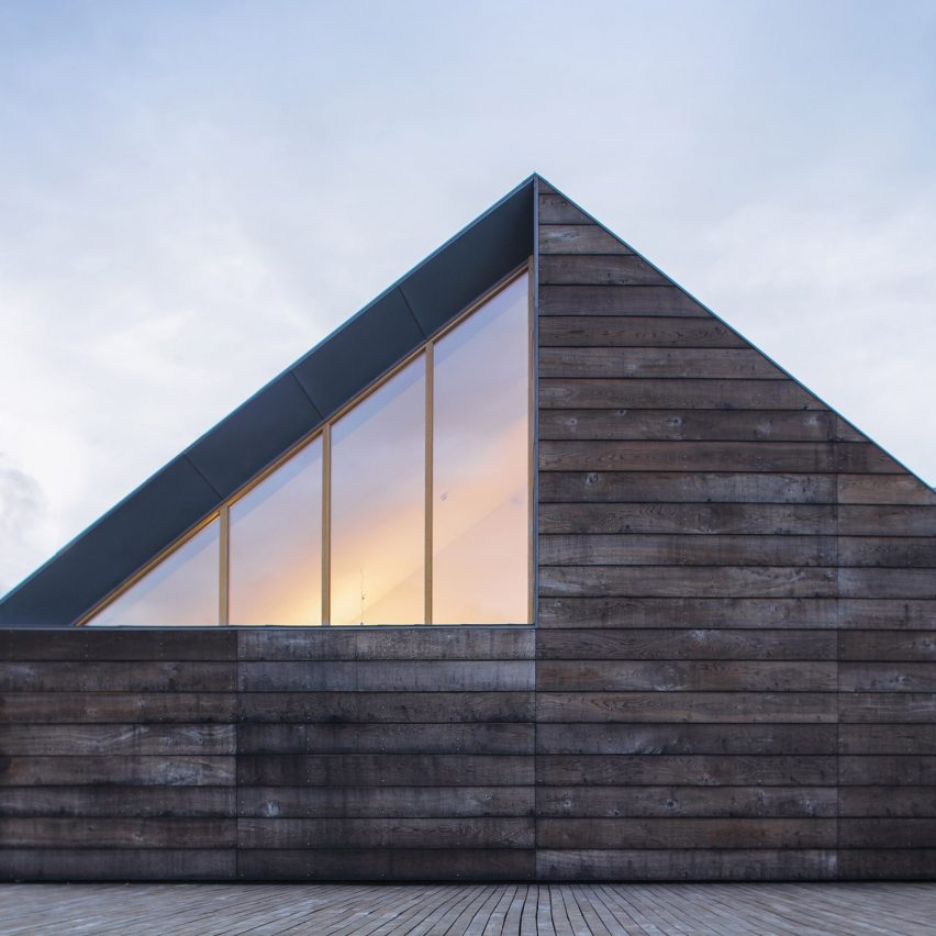 Implant Architecture designs Lithuanian house with star-shaped plan