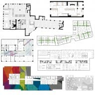 Ten offices with floor plans divided in interesting ways