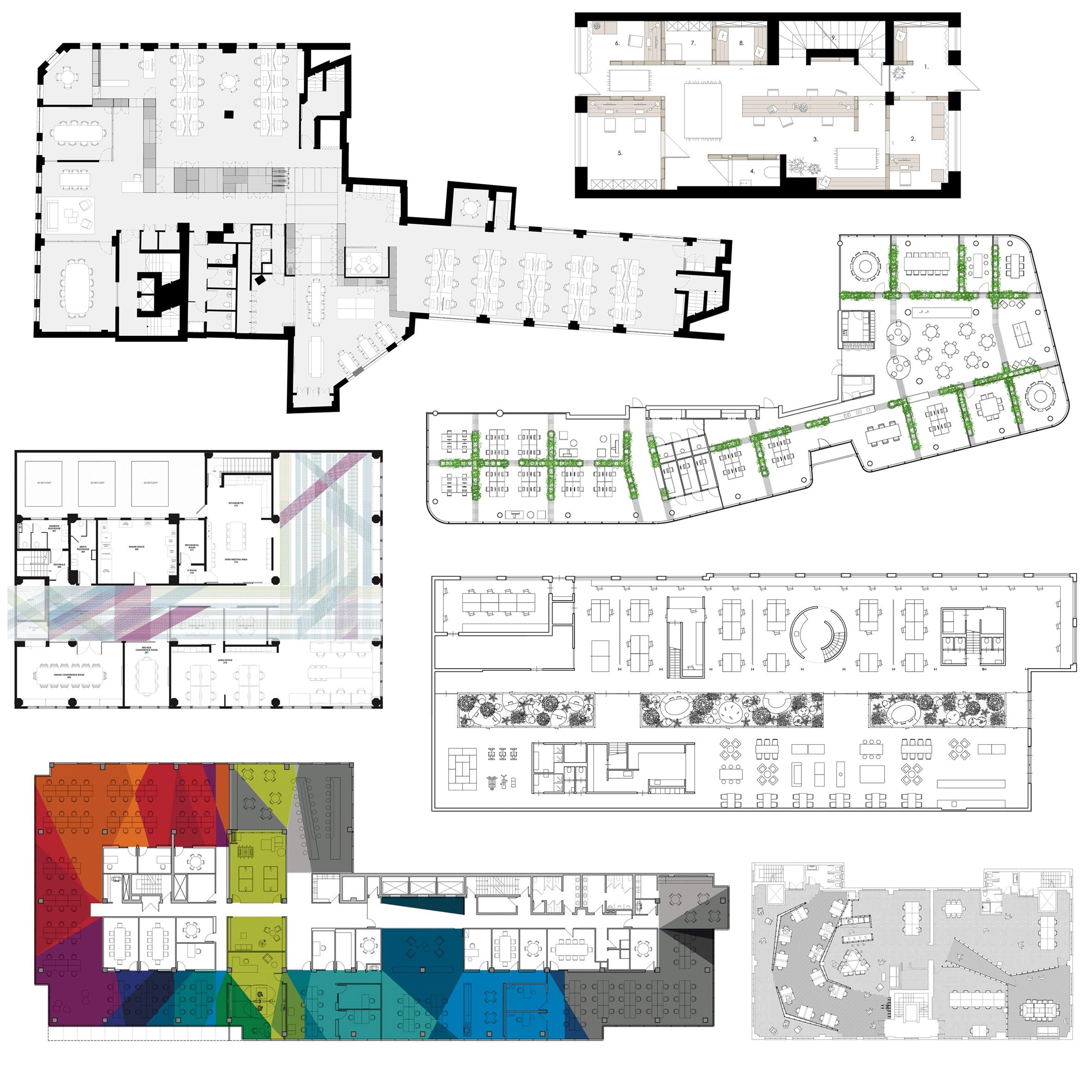 10 Office Floor Plans Divided Up In Interesting Ways