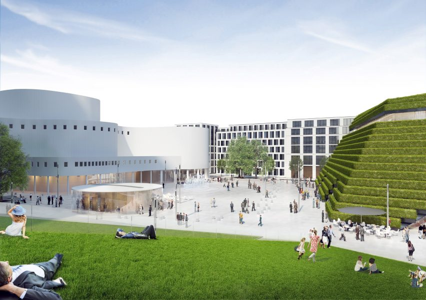 Kö-Bogen II office block in Düsseldorf by Ingenhoven Architects