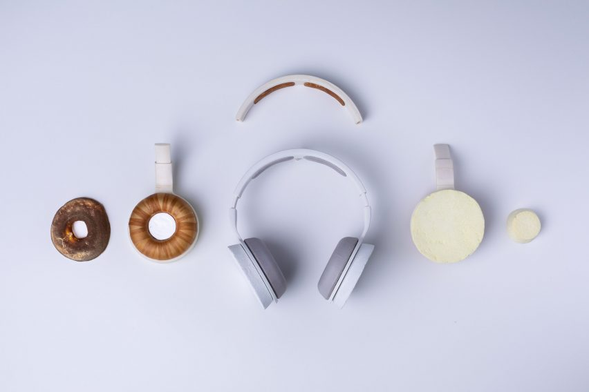 Korvaa headphones by Aivan ar made from six different microbial materials