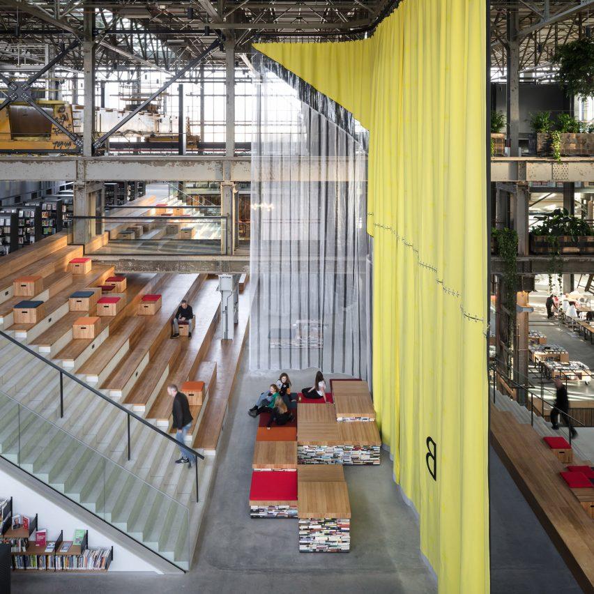 Dezeen best libraries roundup: LocHal by Civic Architects