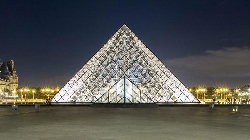Louvre pyramid by IM Pei