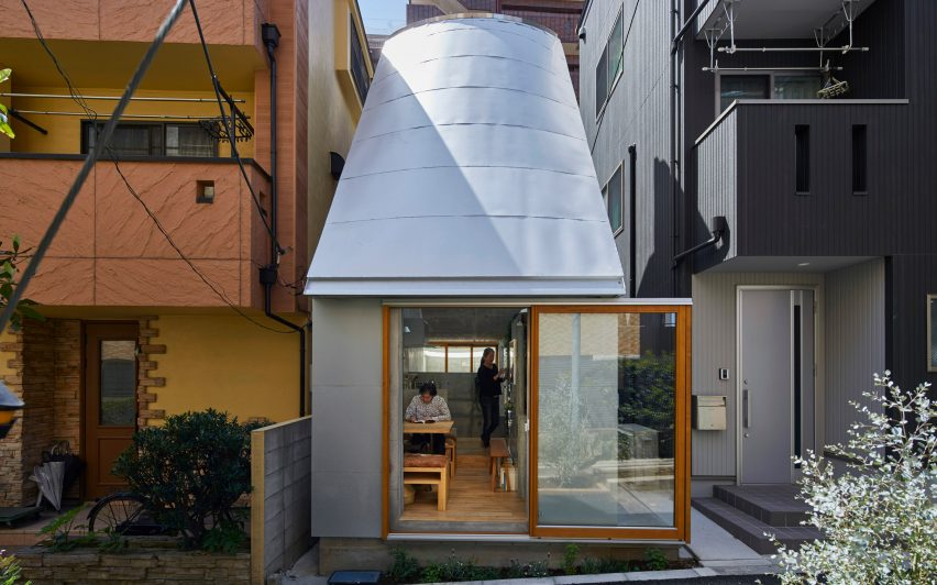 Takeshi Hosaka Designs Tiny House In Tokyo With Funnel Like Roofs