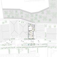 Plan of Love2 House by Takeshi Hosaka in Tokyo Japan