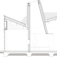 Technical detail section of Maggie's Centre Cardiff by Dow Jones Architects