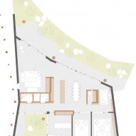 Ground floor plan of Maggie's Centre Cardiff by Dow Jones Architects