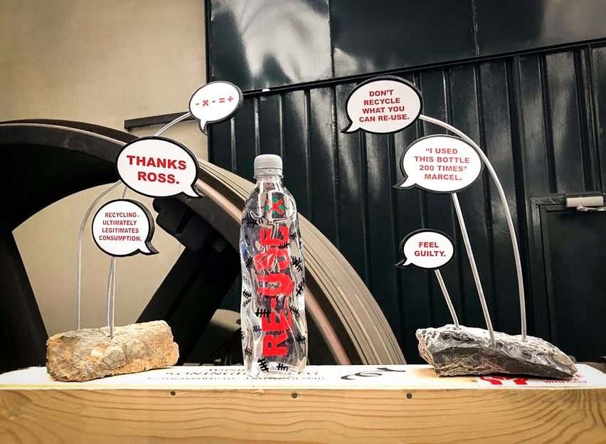 Marcel Wanders' plastic bottle for Rossana Orlandi's Ro Plastic Masters exhibition