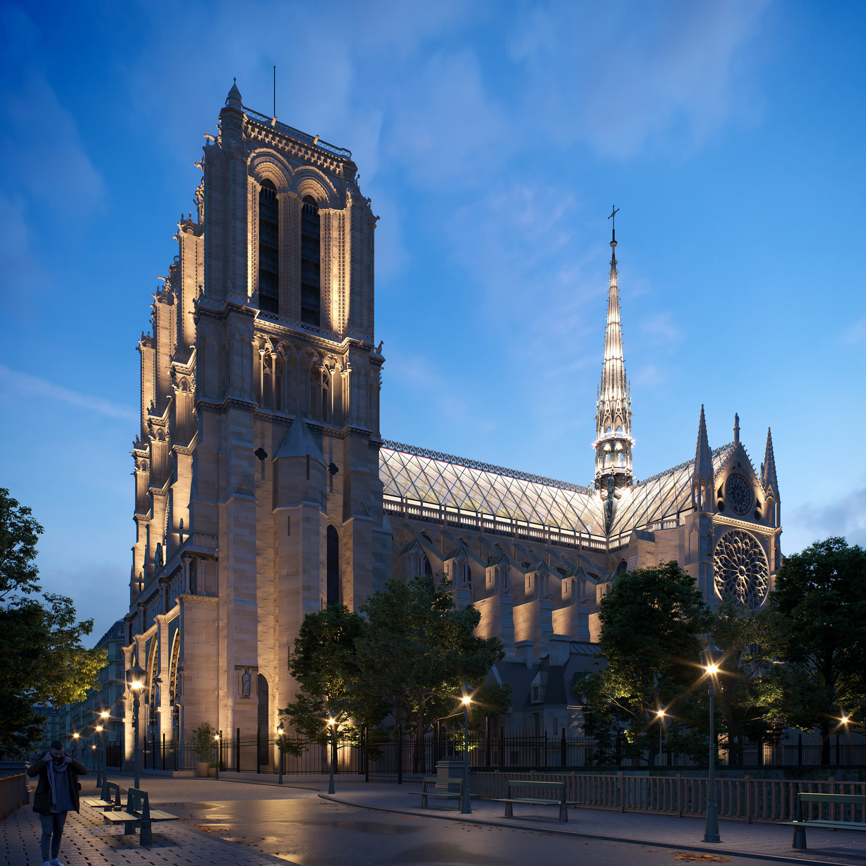 Notre-Dame poor and spire rebuild by Miysis Studio